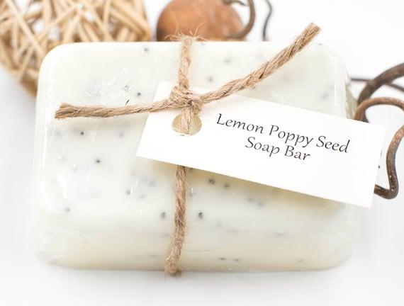 Lemon Poppy Seed Mini Bar | 3oz | Soft Lemon Essential Oil | Super Bubbly | Gentle