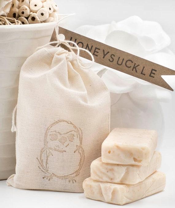 SUMMER TIME!   Honeysuckle Travel Size Bars   Three 1oz bars in Birdie Muslin Bag