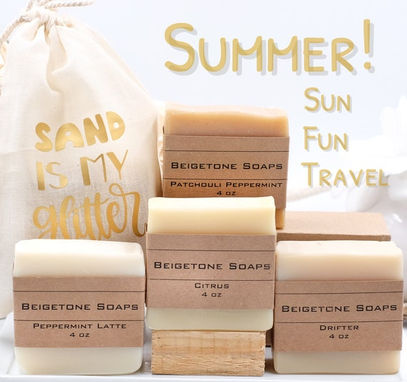 Sand Is My Glitter Bag w/ Your Choice Soap Bar | Choose from Four Bars | Summer Travel, Gift, Friendship