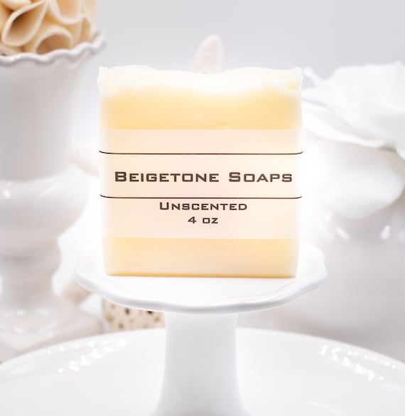 Unscented Soap Bar, 4oz, Fragrance Free, Allergen Free, All Natural, No Additives, Christmas Gifts