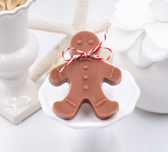 Gingerbread Man Soap, 1.5oz ea, Apple Scent, Gingerbread Décor, Christmas Wedding Favors, Stocking Stuffers, Christmas Theme, Gifts Under 10
