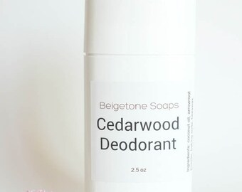 CEDARWOOD Top ODOR CONTROL Twist Up Deodorant   2.5 oz Twist Applicator   All Natural   Aluminum and Paraben Free