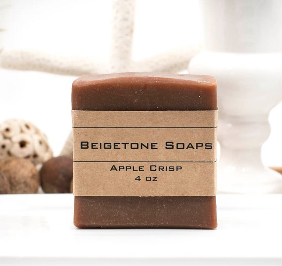 TOP SELLER | Apple Crisp Bath Bar | 4oz | Soft Sweet Fall Scent | Shea Butter | Lots of Bubbles