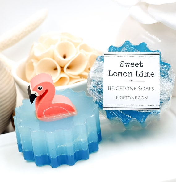 Swimming Flamingo Soap Bar | 4oz | Lemon-Lime-Watermelon Scent