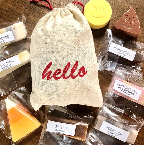 Fall Samples Bag, 9 Soap Samples, Soap Sampler, Fall Soaps, Fall Sampler