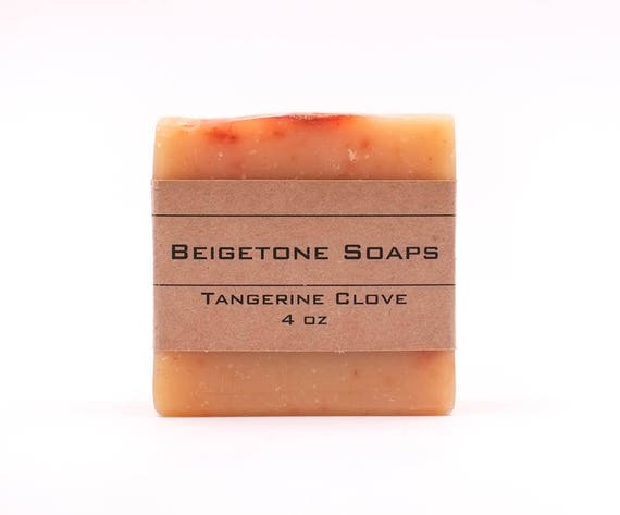 Tangerine Clove, 4 oz each, Body Soap Bar, Bar Soap, Handmade Soap, Natural Soap Bar, Gift for Him, Soap for Dad, Clove Soap