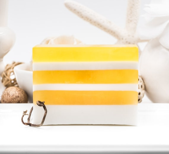 LUXURY LINE | Coconut and Peppermint Layered Soap Bar | 5oz  | Sunny Bright Fun Fresh