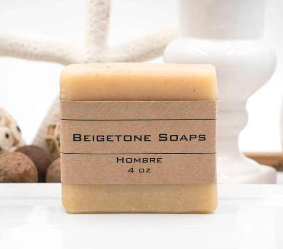 HOMBRE | 4oz | Bubbly Bath Bar | DUDE'S BLEND of Cedar Wood, Orange, and Clove Essential Oils
