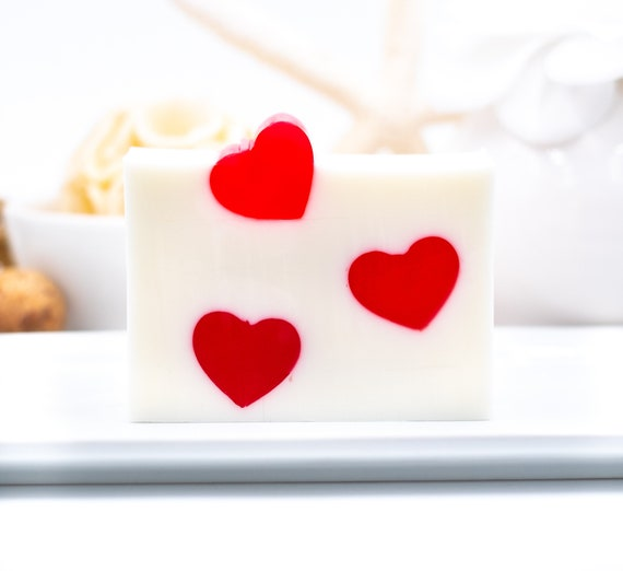 LUXURY LINE | Dancing Heart Soap Bar | 5.5oz | Sweet Applejack Scent | Fun Gift of LOVE!