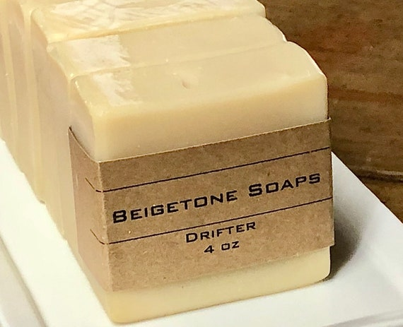 Drifter Soap Bar | 4oz | Manly Essential Oil Blend: Patchouli, Peru Balsam, Lime, Bergamot
