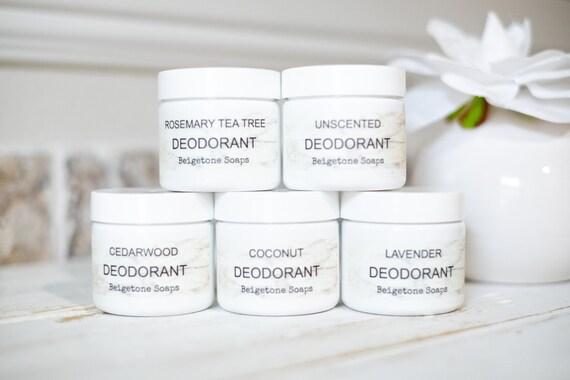 Jar Deodorant 3 oz ea, Aluminum Free, Paraben Free, Natural, Men, Women, Cream, Odor Control, Creamy Deodorant, 24-Hour