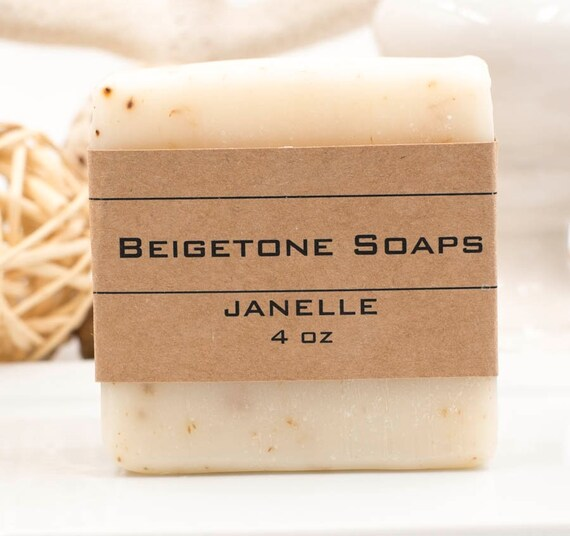 JANELLE Body Bar with Flecks of Lavender Buds | 4oz |  Lavender and Peppermint Essential Oils
