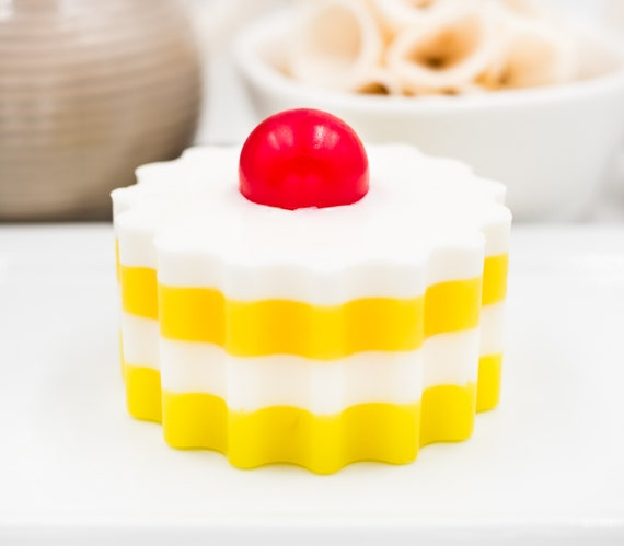 "Coconut Lemon ""Tart"" Soap Bar 