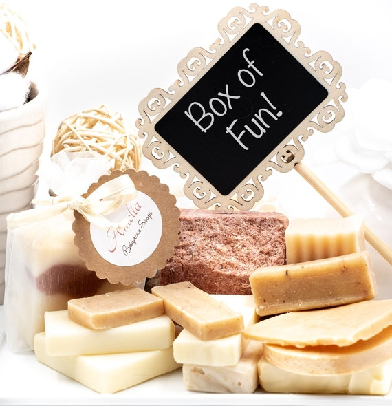 BOX of FUN! | Box of Soap Ends and Misc. Bars | 1.5 lb (24oz) | Great Value!