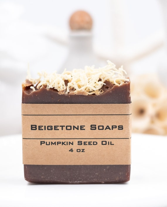 Autumn PUMPKIN SEED OIL Curly Top Soap Bar | 4oz | Super Moisturizing | Fall Favorite Pumpkin Spice Scent!