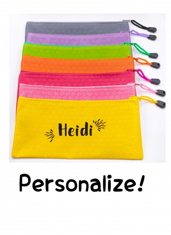 Cosmetic Bag Personalized, Waterproof Honeycomb Design, Spa Kits & Gifts, Pencil Pouch, Cosmetic Bag, Gifts Under 10