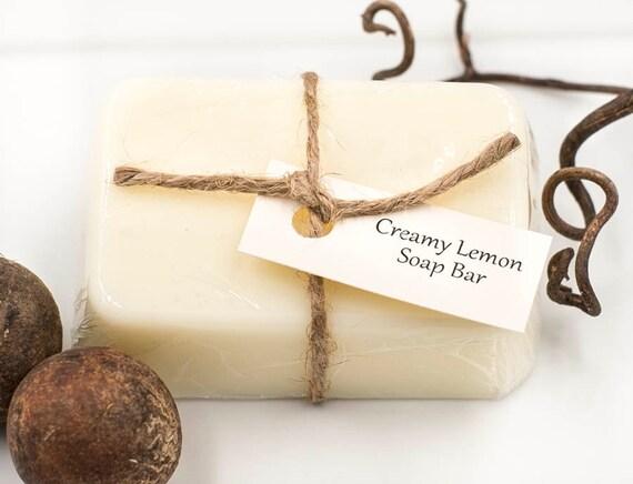 Creamy Lemon Mini Bar | 3oz | Bubbly Soft Lemon Scent | Easy Carry Size for Travel