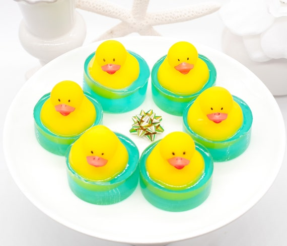 SIX Ducks in Puddles, Set, Stocking Stuffers, Baby Duck Shower, Birthday, Favors, Christmas Gifts, Kids Duck, Duck Theme, Small Gifts