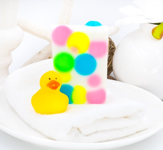 Kids BUBBLES Soap Bar| Sweet Lemon Scent | 4oz Bar | Birthdays, Party, Holidays, All Occasions!