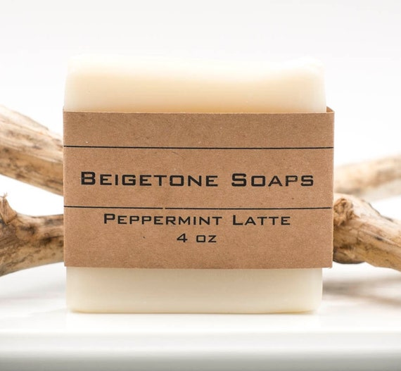 Peppermint Latte Soap Bar | 4oz | Velvety Soap Bar Gentle on Skin