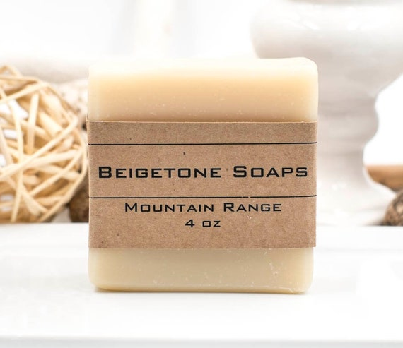 Mountain Range Mens Soap, 4oz, Mens Soap Bar, Body Soap Bar, Bar Soap, Handmade Soap, Natural Soap Bar, Mens Christmas, For Him, For Dad