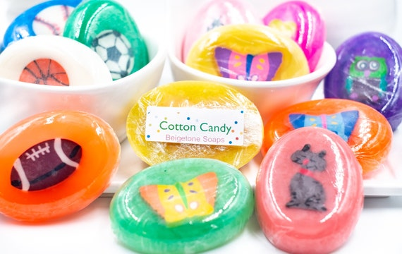 ONE Children's Soap w/ Embedded Eraser | 1oz ea. | Cotton Candy Scent | Boys and Girls | FUN!