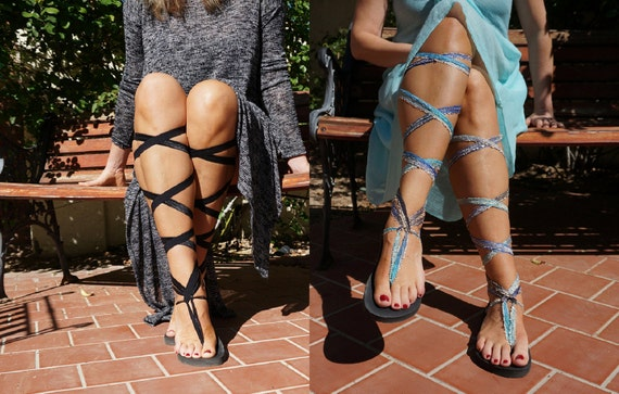 Black Rubber Sandals Gladiator Eco interchangeable Soles Up and laces with and Blue TWO Friendly Lace of Ombre Black pairs Vegan twx8BqHIYR