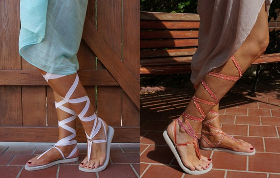 Sorbet and Gladiator pair White of White with Sandals Two Laces Interchangeable Az8n7qxaw