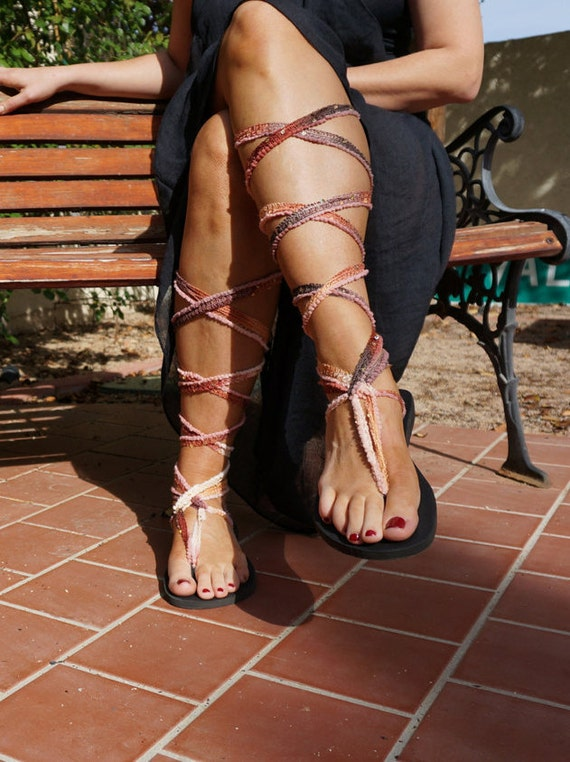 brown are friendly Chrysandals interchangeable laces with Sandals that and ombre Knee eco vegan sparkle Gladiator High XqaPOwwBx