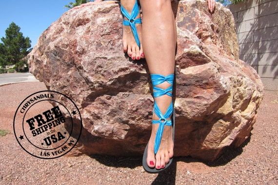 Sandals Women's Sandals Sandals SHIPPING Up Vegan Boho Sandals with FREE Turquoise Laces Gladiator Sandals Lace Women's HHqZwrOp