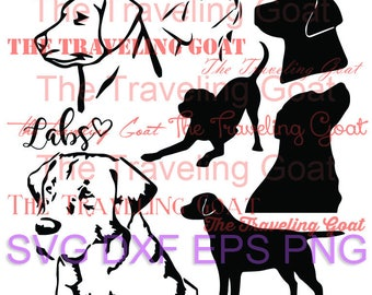 Puppy Dog Lab Labrador SVG Cut File Dog silhouette svg lab face lab playing lab sitting cut file