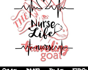 Nurse SVG, Nurse Life SVG with Heart, Nurse ekg svg, nurse with ekg, nurse gift, nurse life, ekg svg, nursing decal