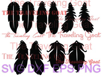 Feather file DIY earrings, leather jewelry making, svg, dangle cut out feathers for cricut, feathers, birds, dangle earrings