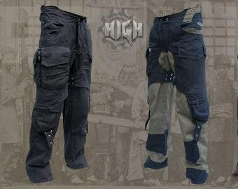 Rebel Pants ~ post apocalyptic goa psypunk multi cargo pocket psytrance pants  -  size until  6XL