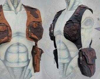Blaster Holster ~ post apocalyptic burning man shoulder holster bag