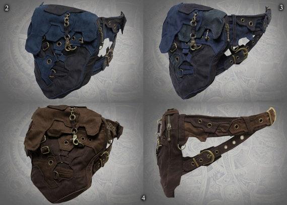 futuristic steampunk apocalypse cyberpunk double buckle utility pocket belt bag Matrix Belt
