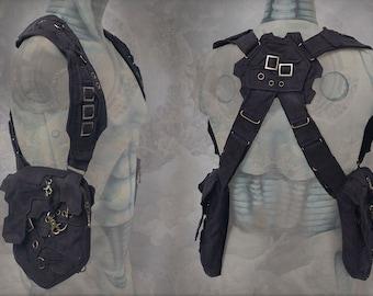 Pandoras shoulder pocket Holster Bag ~ neo machine steampunk style