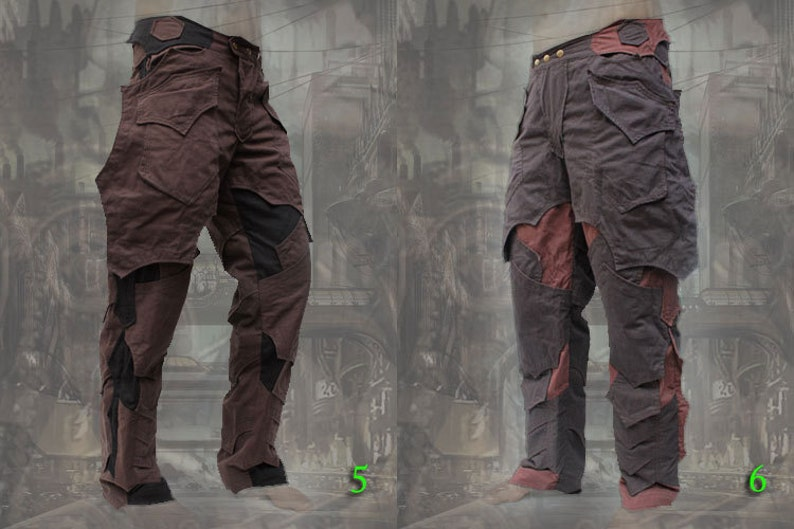 Men's Steampunk Pants & Trousers Asgardian Pants ~ neo apocalyptic knight dark steampunk $148.00 AT vintagedancer.com