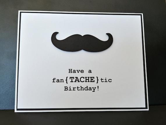 Mustache Punny Birthday Card Etsy