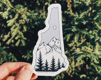 New Hampshire Vinyl Sticker