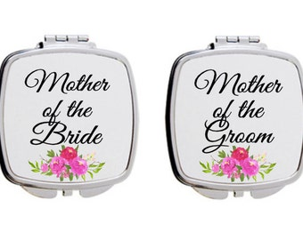 Mother of the bride gift, Mother of the groom gift, compact mirror, dishwasher safe