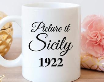 Golden Girls mug, Picture it Sicily 1922