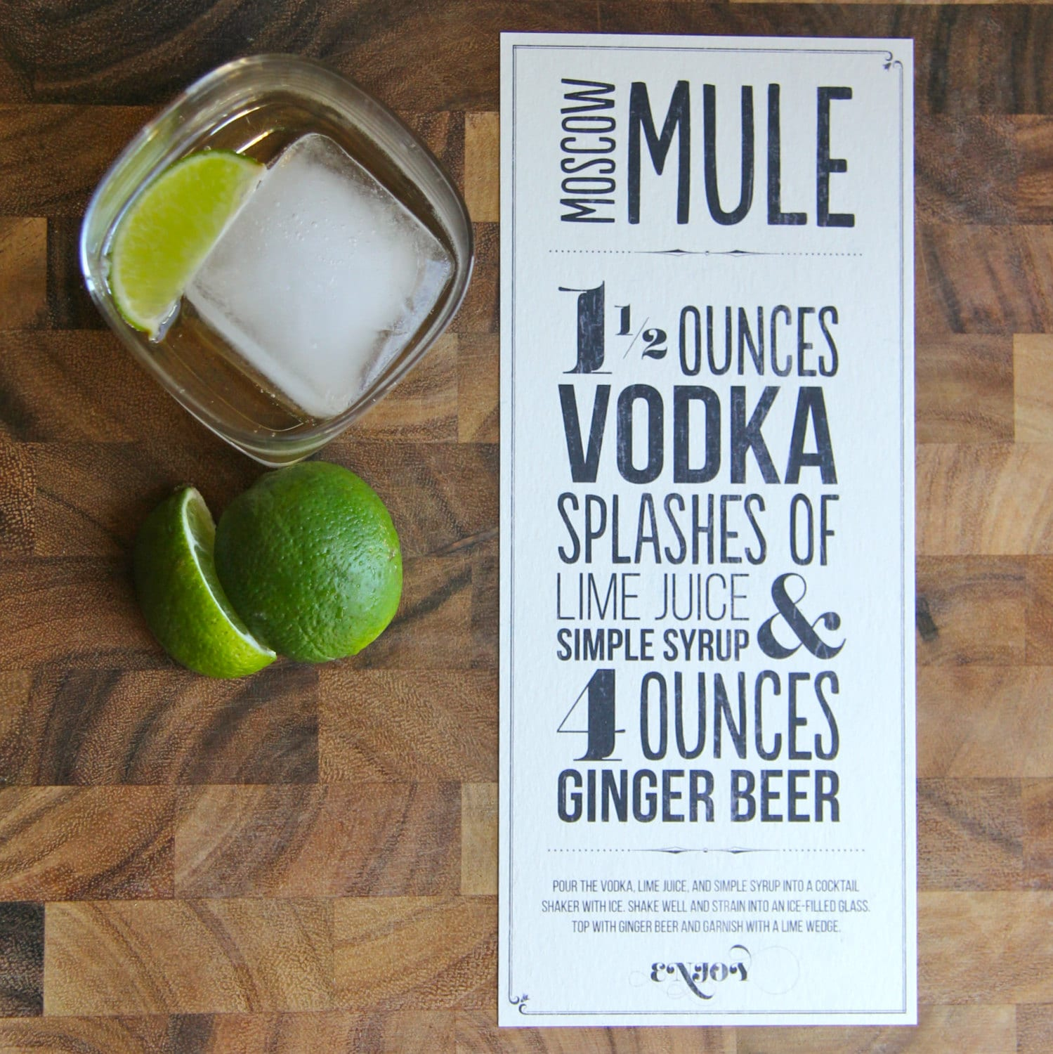 picture relating to Moscow Mule Recipe Printable referred to as Moscow Mule Recipe Print Design and style; Fast Obtain Artwork