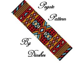 Beading Pattern Earrings Feather Peyote Pattern Etsy