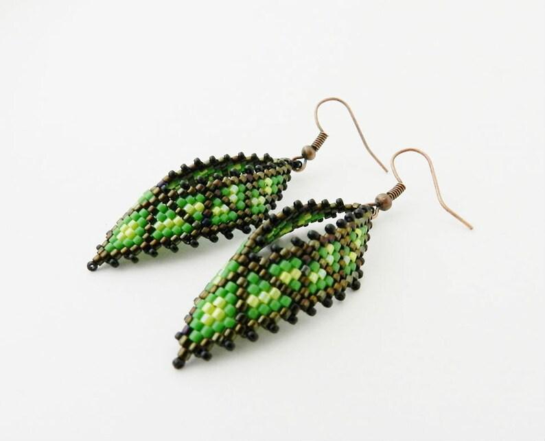 21af6967f PDF Beaded Earrings Tutorial Seed Bead Earrings Beadwork | Etsy