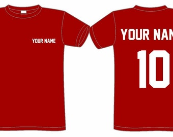 95d7d018796 CUSTOMIZED sports T-SHIRT (name   number)