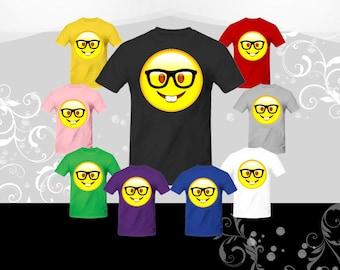 cd11328d Nerd Face Emoji T-shirt (U+1F913)