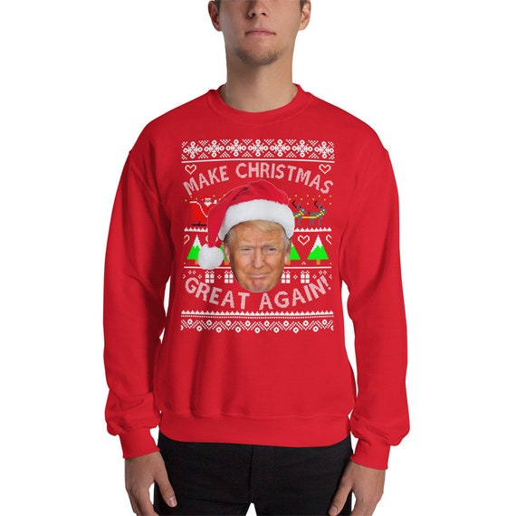 Donald Trump Ugly Christmas Sweater.Make Christmas Great Again Ugly Christmas Sweatshirt Donald Trump Sweater Mens Ugly Christmas Sweater Best Ugly Christmas Sweater