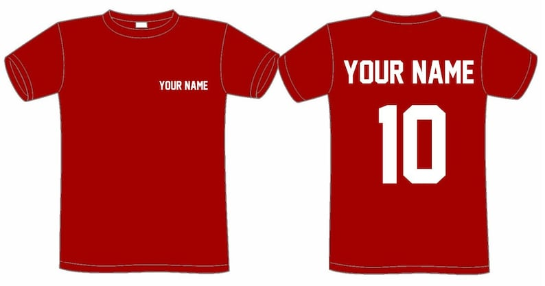 46dd7a8a9 CUSTOMIZED sports T-SHIRT name & number customize shirt   Etsy