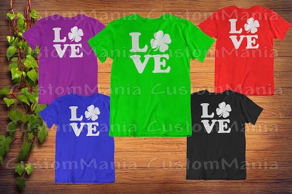 Patricks Day Unisex Cool Long Sleeve Kids T-Shirt Irish Clover Striped Tie St